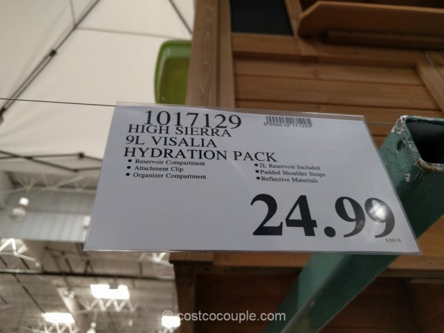 High Sierra Visalia 9 Hydration Pack Costco 1