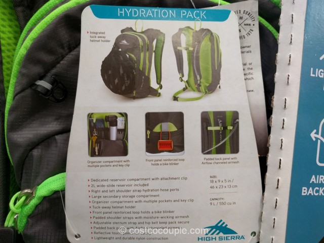 High Sierra Visalia 9 Hydration Pack Costco 5