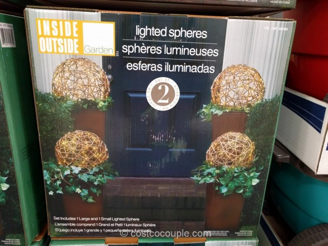 LED Lighted Spheres Costco 2