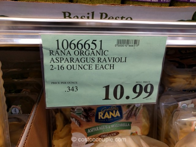 Rana Organic Asparagus and Mozzarella Ravioli Costco 1
