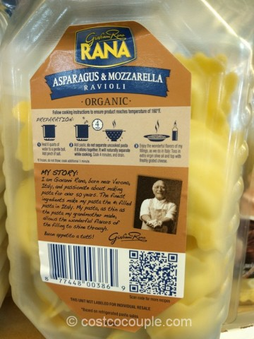 Rana Organic Asparagus and Mozzarella Ravioli Costco 3