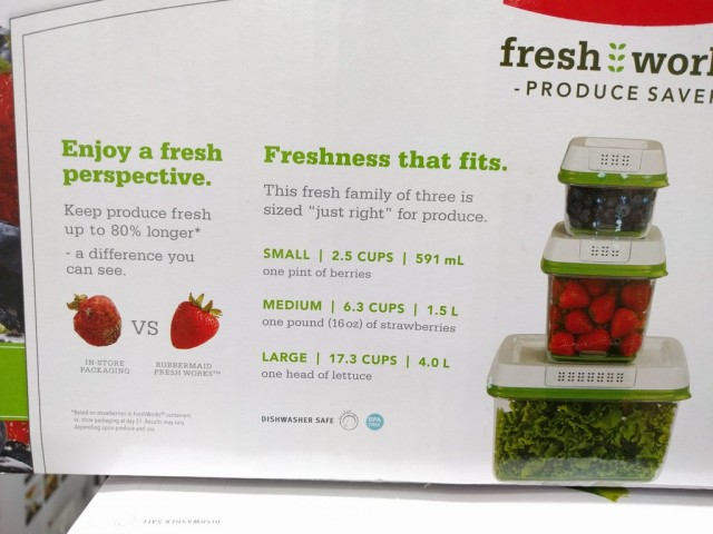 Rubbermaid Fresh Works Produce Saver Costco 2