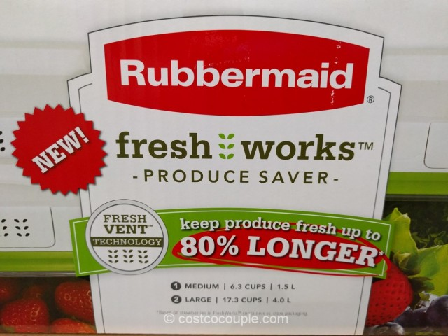 Rubbermaid Fresh Works Produce Saver Costco 4