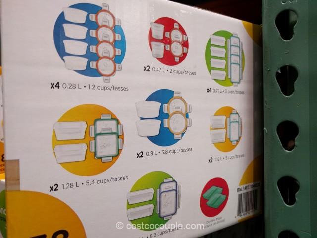 Snapware Plastic Food Storage Set Costco 5