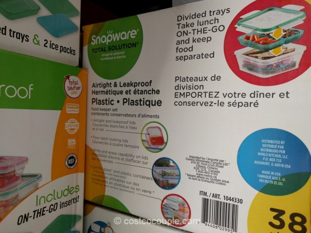 Snapware Plastic Food Storage Set Costco 6