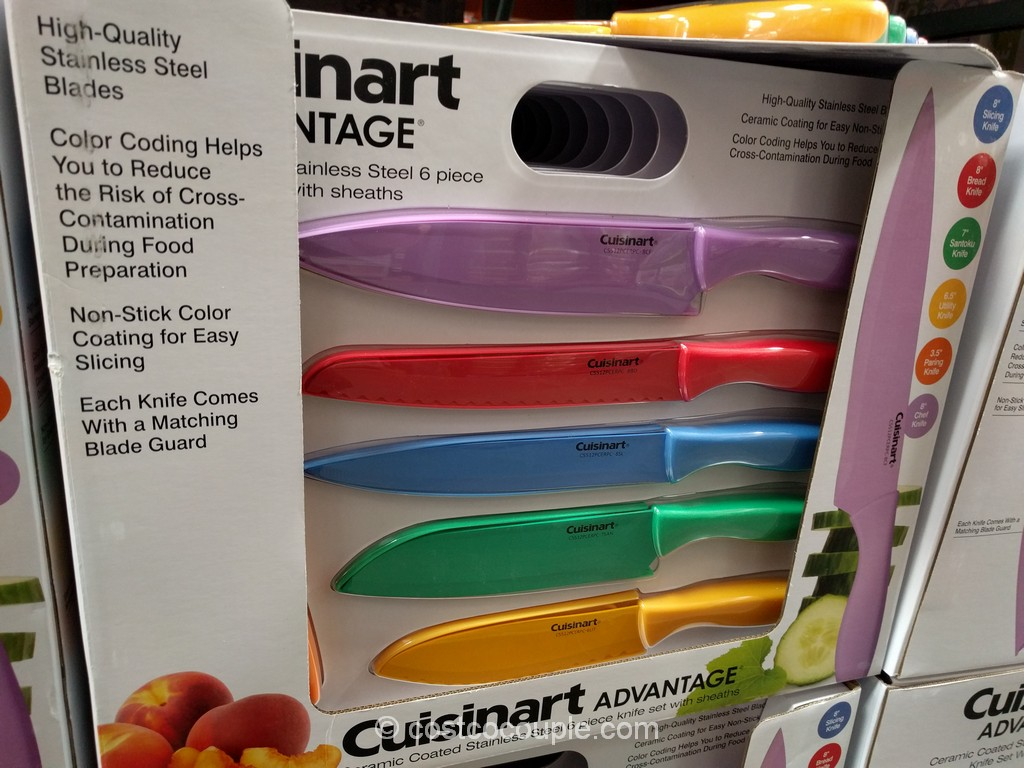 Cuisinart Advantage Ceramic Coated Knives Costco 2