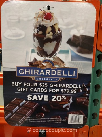 Gift Card Ghirardelli Costco 1