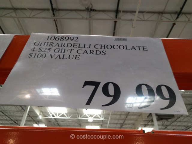 Gift Card Ghirardelli Costco 4