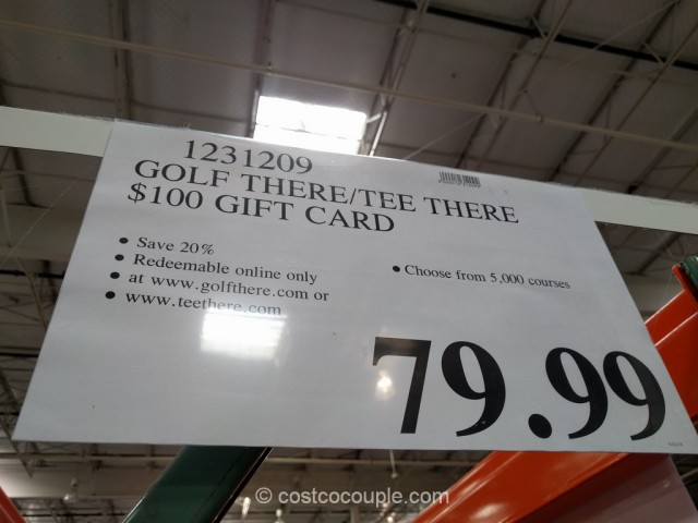 Gift Card Golf There Tee There Costco 1