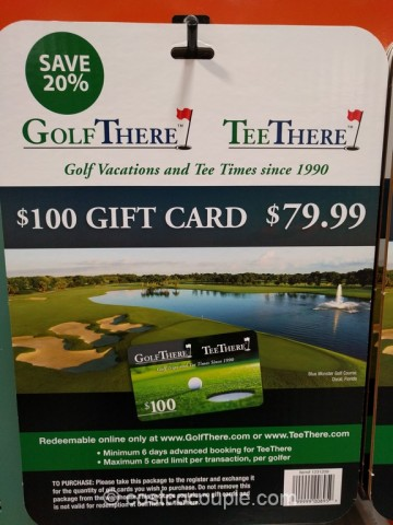Gift Card Golf There Tee There Costco 2