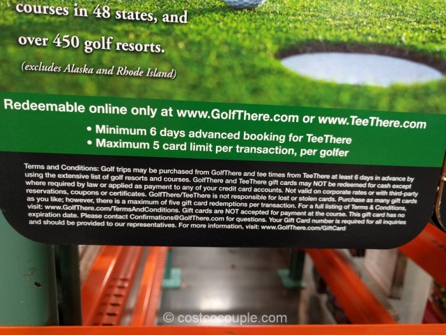Gift Card Golf There Tee There Costco 4