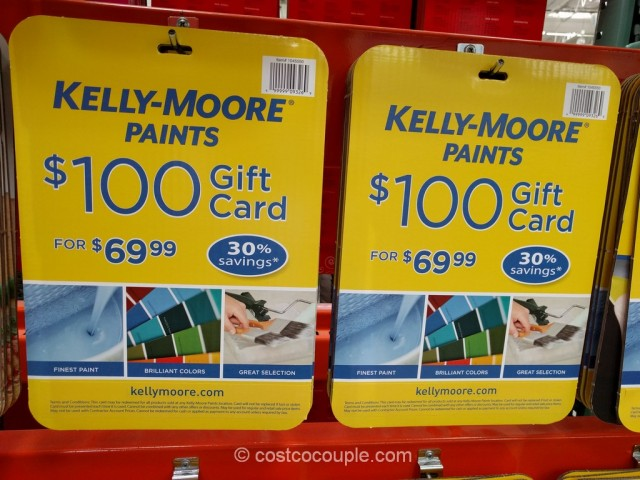 Gift Card Kelly Moore Paints Costco 2