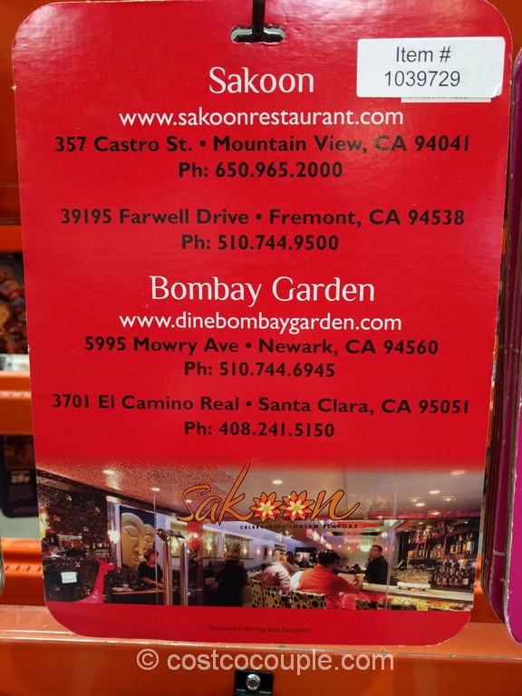 Gift Card Sakoon Costco 2