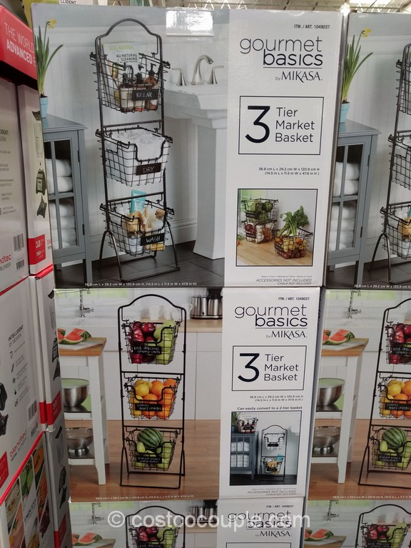 Gourmet Basics By Mikasa 3 Tier Market Basket Costco 2