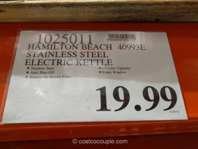 Hamilton Beach 40993E Electric Kettle Costco 1