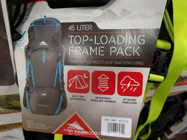 High Sierra 45 L Top-Loading Frame Pack Costco 3