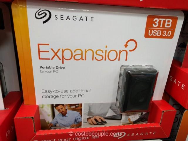 Seagate Expansion 3 TB Portable Hard Drive Costco 2