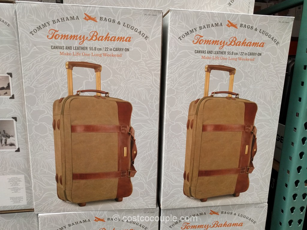 Tommy Bahama Canvas Duffel Luggage Costco 4
