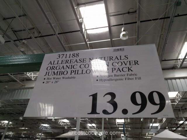 Allerease Naturals Organic Cotton Cover Jumbo Pillow Costco 1