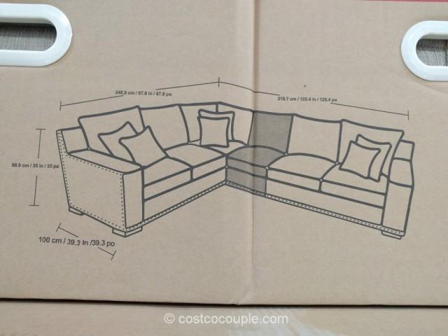 Bainbridge 4-Piece Fabric Sectional Costco 6