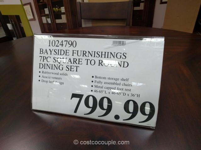 Bayside Furnishings 7-Piece Counter Height Round Dining Set Costco 1