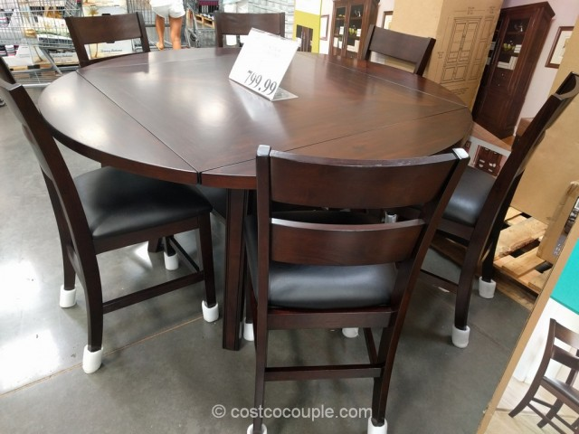 the bayside furnishings 7 piece counter height round dining set will