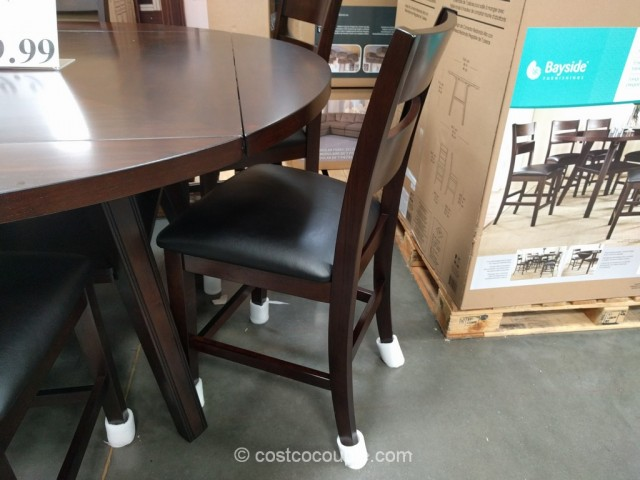 Bayside Furnishings 7-Piece Counter Height Round Dining Set Costco 3