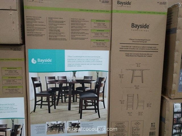 Bayside Furnishings 7-Piece Counter Height Round Dining Set Costco 5