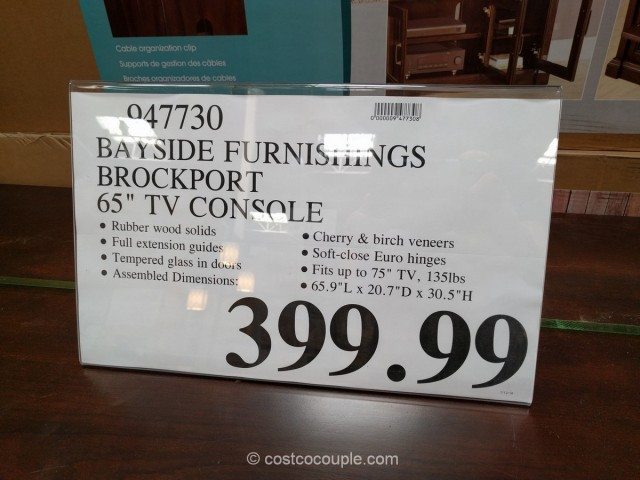 Bayside Furnishings Brockport TV Console Costco 1