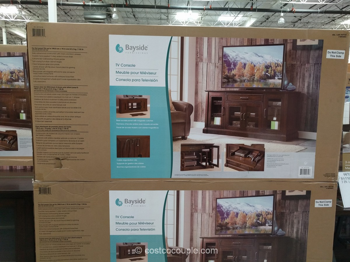 Bayside Furnishings Brockport TV Console Costco 3