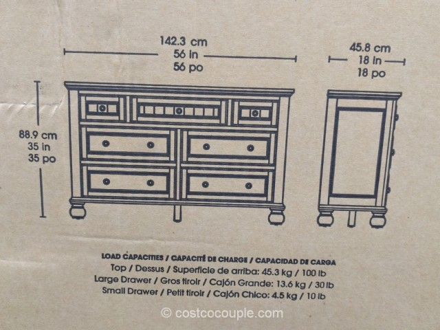 Bayside Furnishings Dresser Costco 6