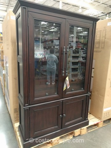 bayside furnishings glass door bookcase costco 2
