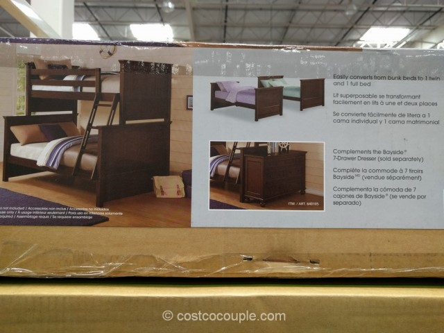 Bayside Furnishings Twin Over Full Bunkbed Costco 3