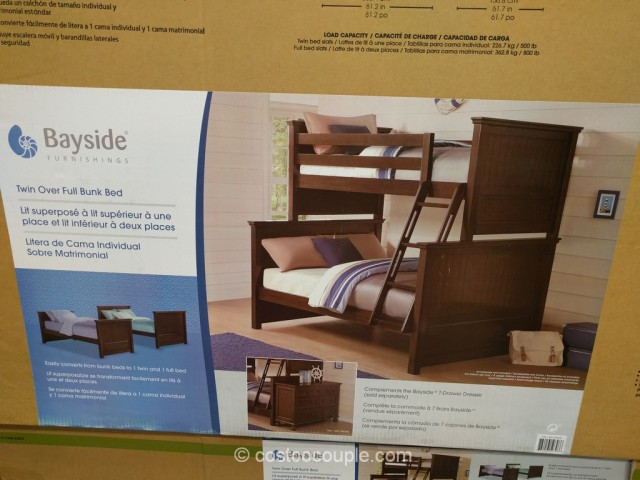 Bayside Furnishings Twin Over Full Bunkbed Costco 5