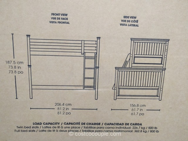 Bayside Furnishings Twin Over Full Bunkbed Costco 7