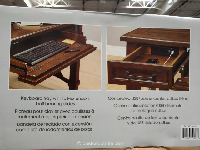 Bayside Furnishings Writing Desk Costco 5