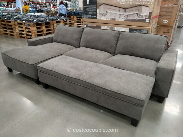 Chaise Sofa with Storage Ottoman Costco 2