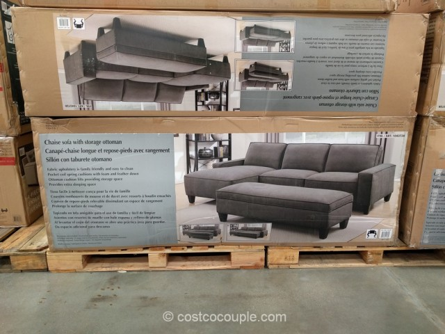 Chaise Sofa with Storage Ottoman Costco 3