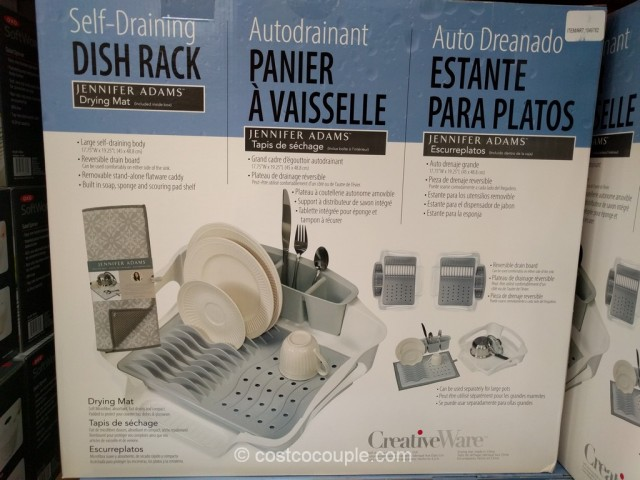 Creative Ware Self-Draining Dish Rack Costco 2