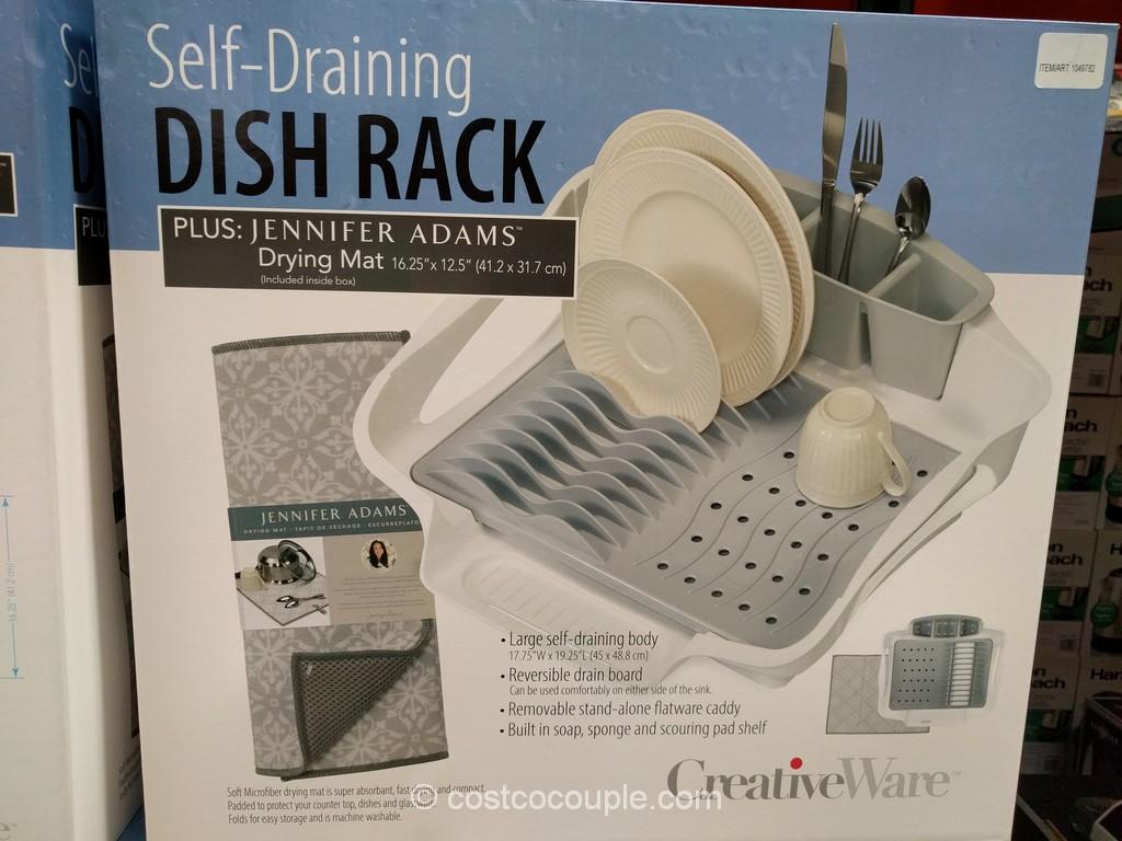 Creative Ware Self-Draining Dish Rack Costco 4