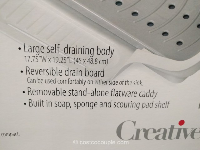 Creative Ware Self-Draining Dish Rack Costco 5