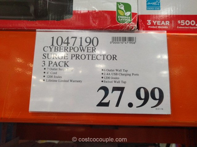 CyberPower Surge Protector Pack Costco 1