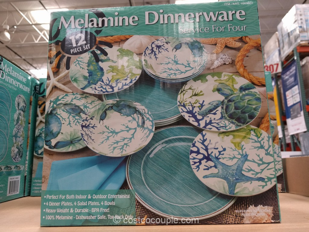First Design Global Sea Life Melamine Dinnerware Set Costco 2