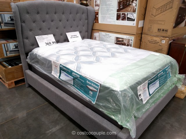 Hillsdale Upholstered Wing Back Queen Bed Costco 1