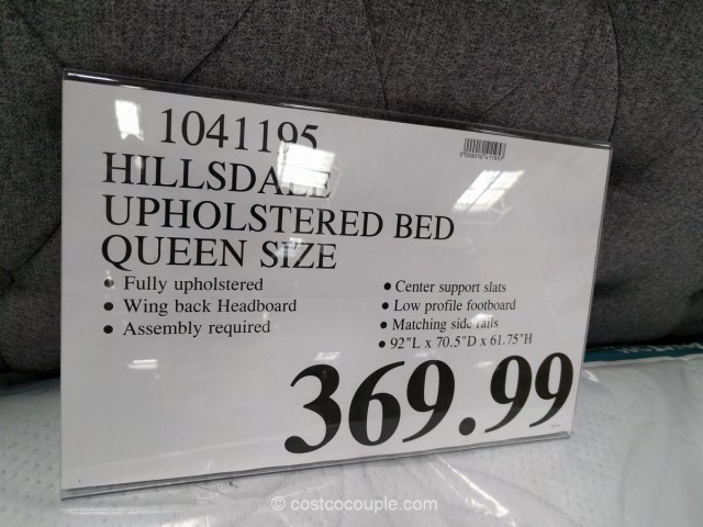 Hillsdale Upholstered Wing Back Queen Bed Costco 3
