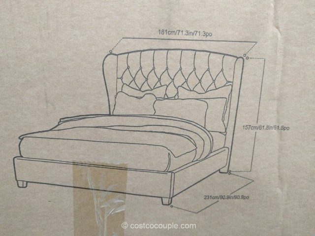 Hillsdale Upholstered Wing Back Queen Bed Costco 4