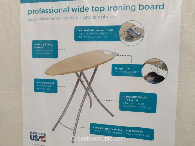 Homz Professional Wide Top Ironing Board Costco 3
