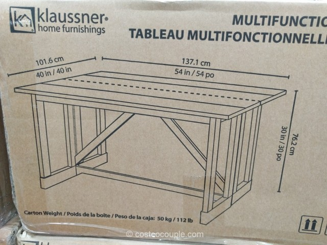 Klaussner Multifunctional Table Costco 4
