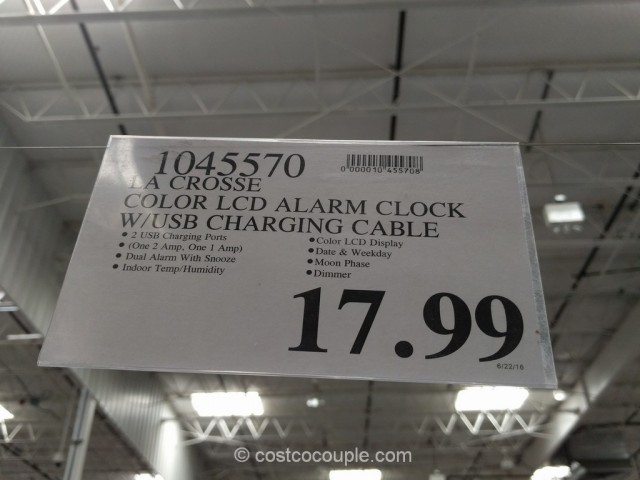 La Crosse Alarm Clock Charging Station Costco 1