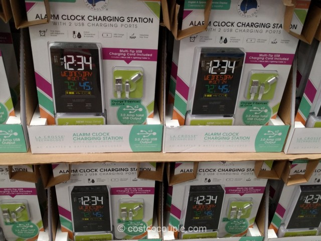 La Crosse Alarm Clock Charging Station Costco 2